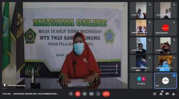 Pelaksanaan Masa Taaruf Siswa Madrasah (Matsama) Secara Online